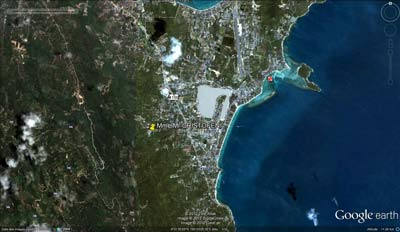 google earth map for locating the house for rent in Koh Samui Thailand