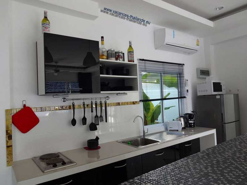 Photo 33 english kitchen electric stove, microwave oven and various accessory koh samui